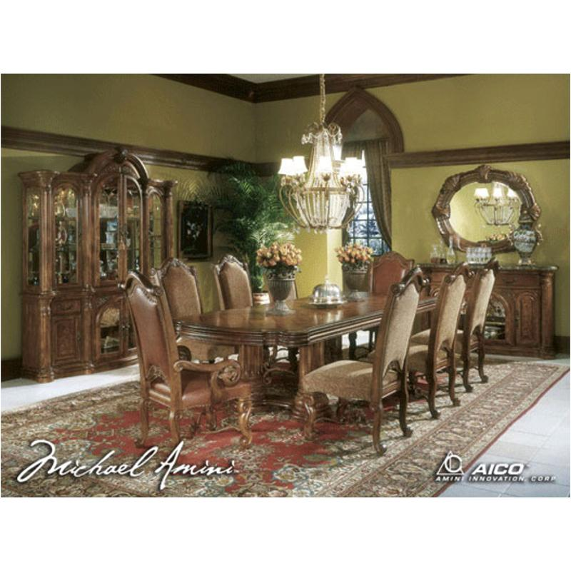 53002t 24 Aico Furniture Monte Carlo Pecan Dining Room Table
