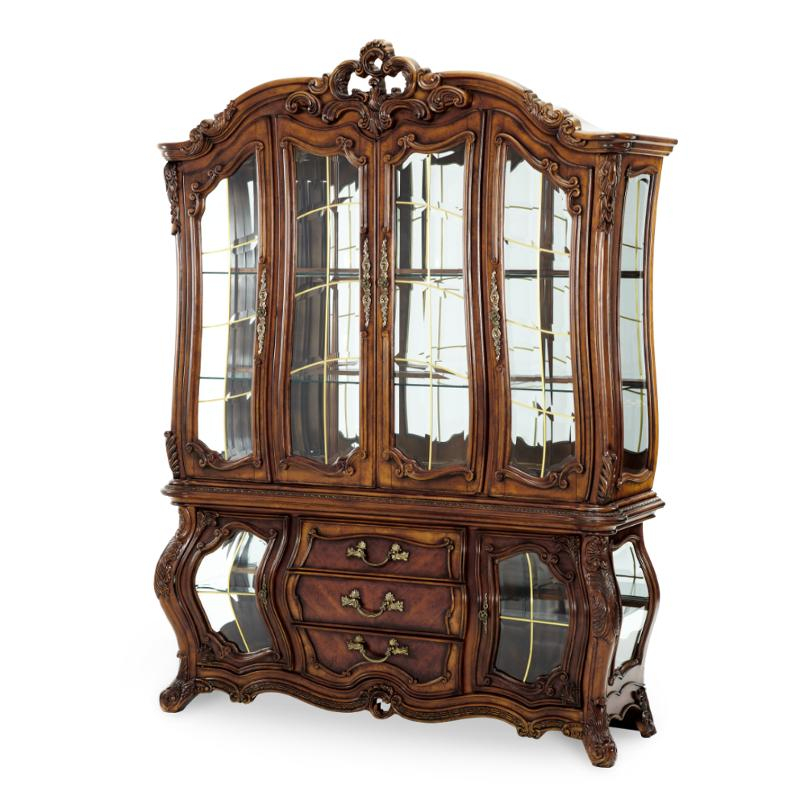71005 35 Aico Furniture Palais Royale China Rococo Cognac