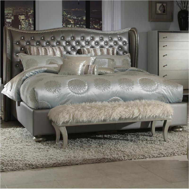 03014 78 Ck Aico Furniture Hollywood Swank Bedroom Bed