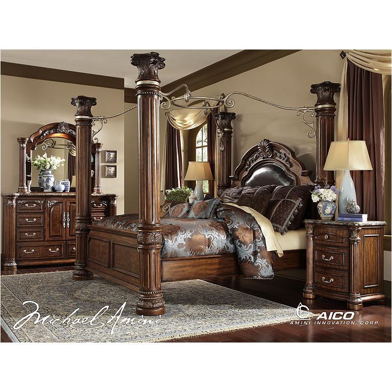 N53015r 46 Ck Cn Aico Furniture Monte Carlo Ii Bedroom Bed