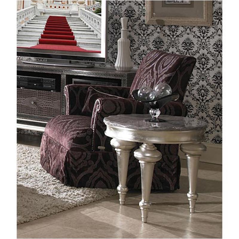 03836 Amyth 00 Aico Furniture Hollywood Swank High Back Skirted Chair