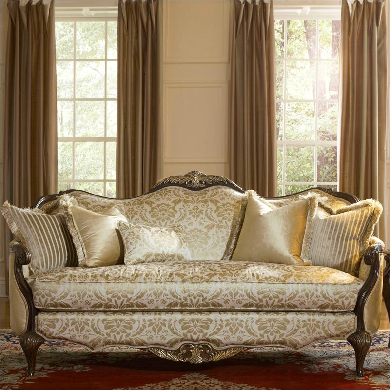 79815-chpgn-40 Aico Furniture Imperial Court Wood Trim Sofa