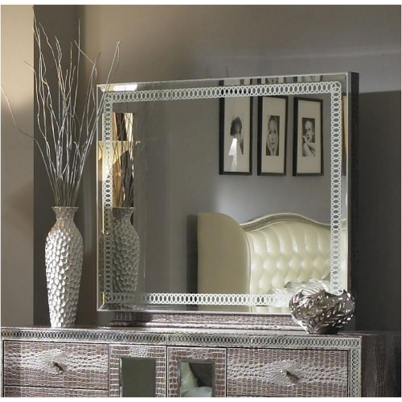 03060r 33 Aico Furniture Hollywood Swank Bedroom Mirror