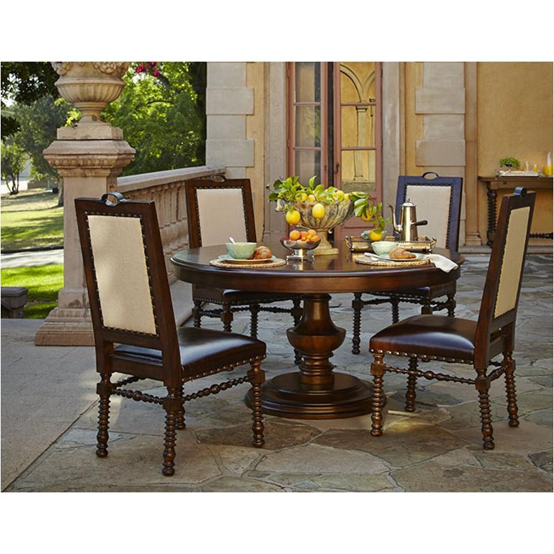 38001t 45 Aico Furniture Bella Cera Round Dining Table Capri