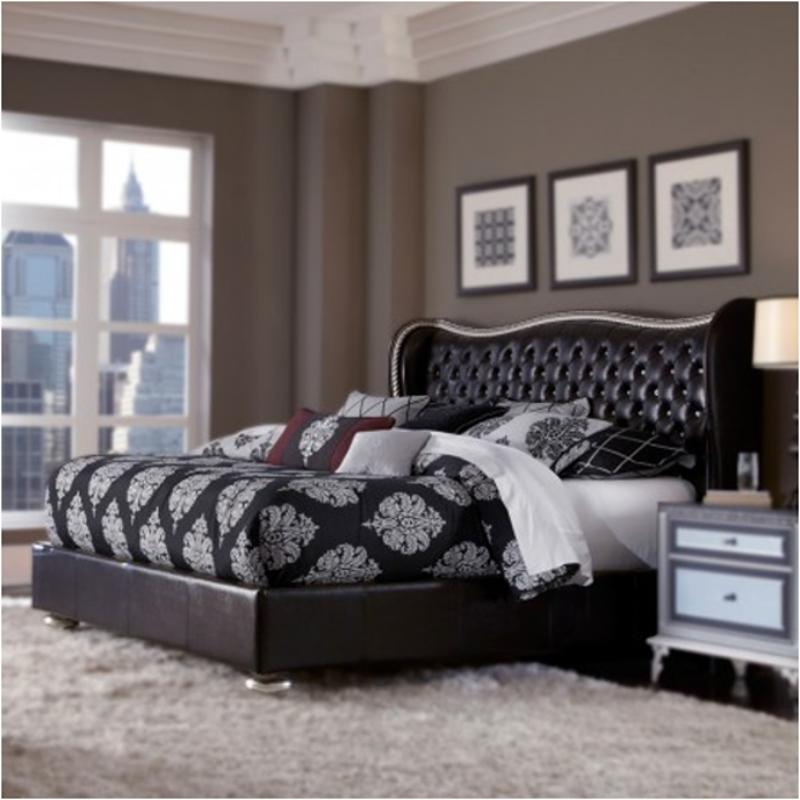 Attrayant 03014 87 Ck Aico Furniture Hollywood Swank   Starry Night Bedroom Bed