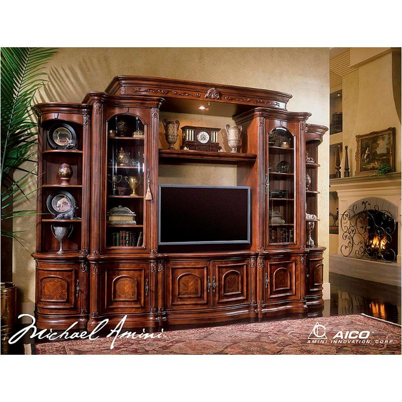 58098t 44 4pc Aico Furniture Entertainment With Side Piers