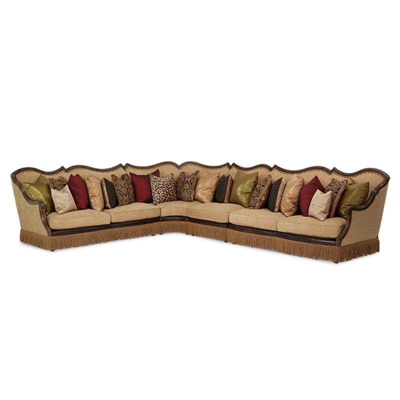 61812 Amber 29 Aico Furniture Victoria Palace Left Arm Sofa