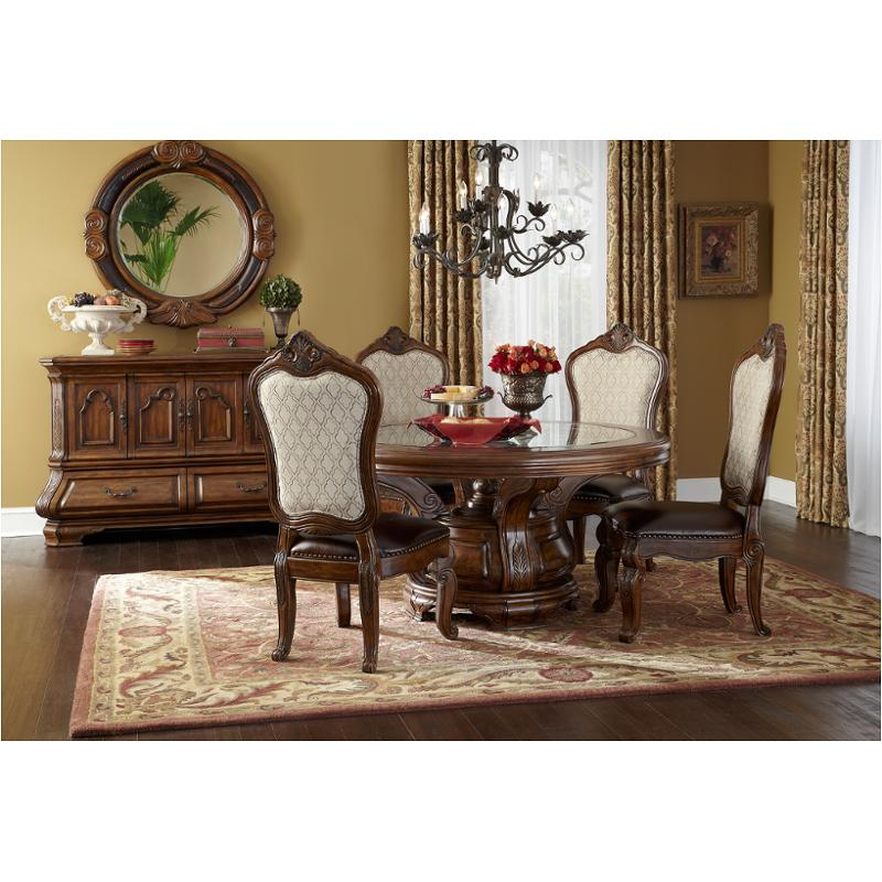 34001t-34 Aico Furniture Tuscano - Melange Round Dining Table - Melange