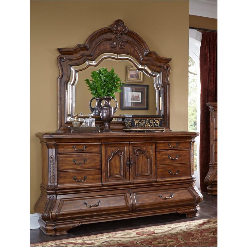 34060-34 Aico Furniture Tuscano - Melange Dresser Mirror - Melange