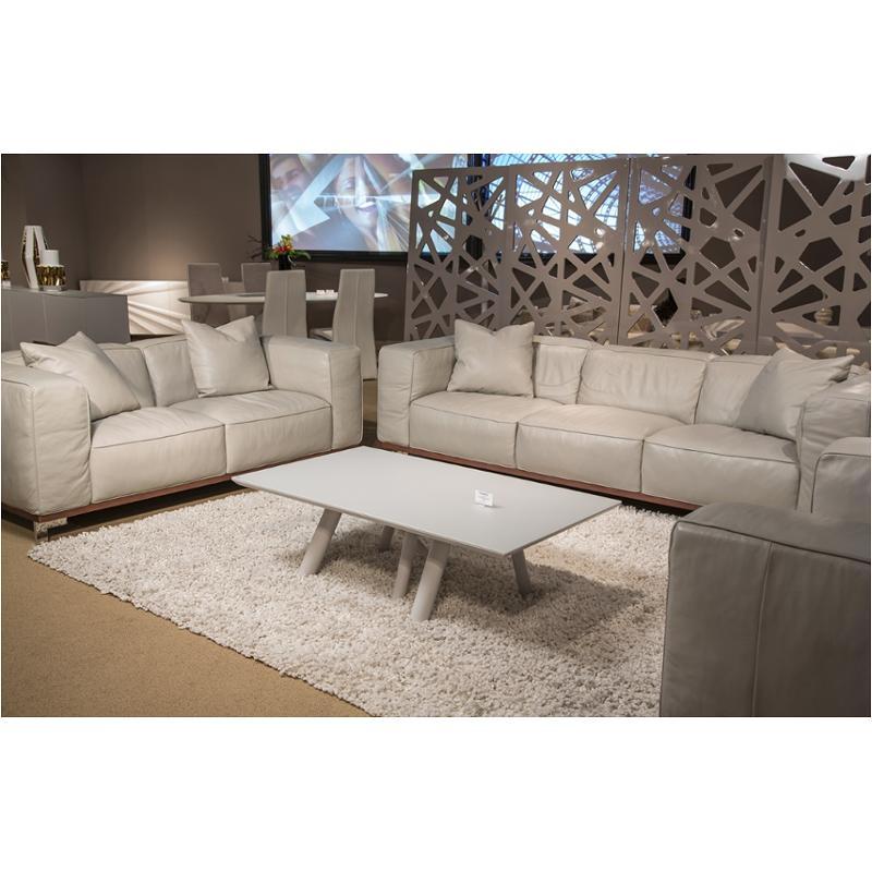 Tr-sabri15-tgr-94 Aico Furniture Trance Leather Standard Sofa In Tangerine