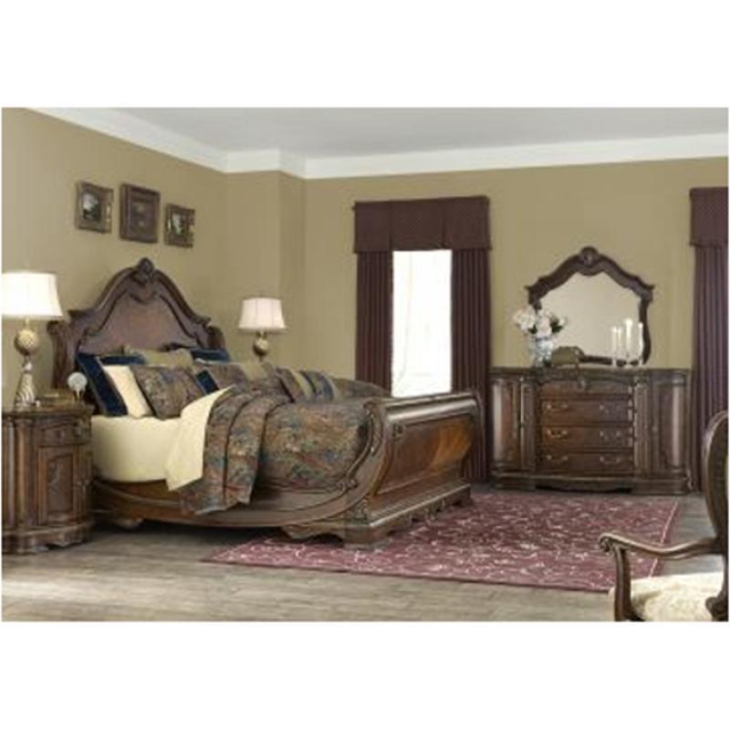 9051018 202 Aico Furniture Bella Veneto Eastern King Sleigh Bed
