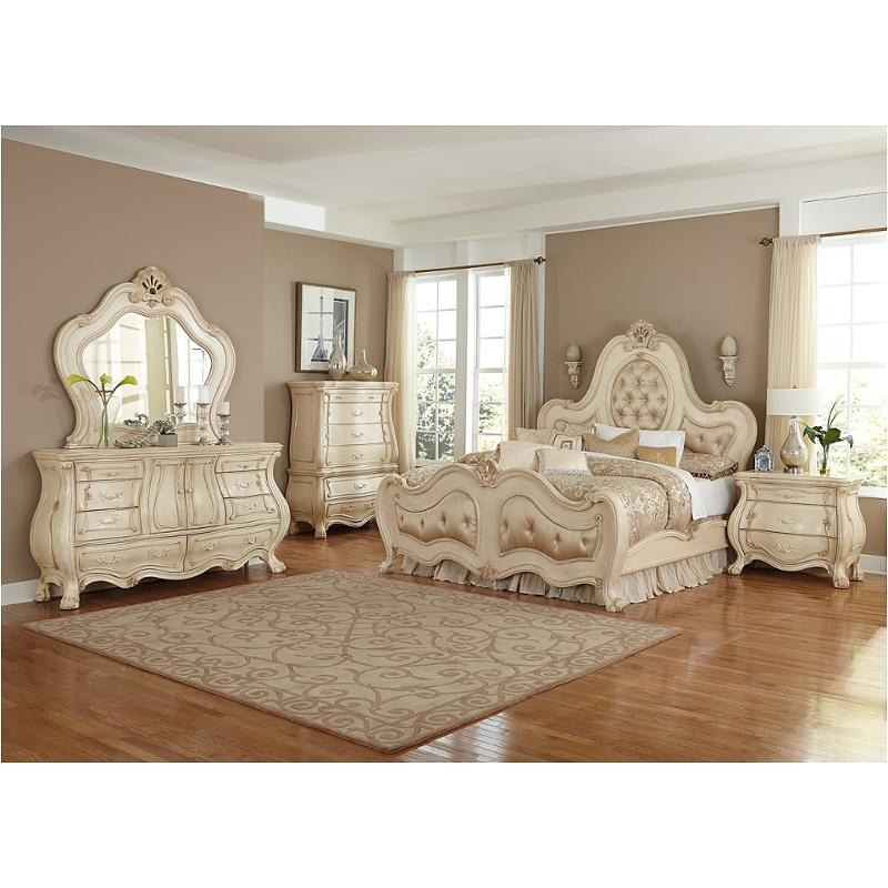 9052012 04 Aico Furniture Queen Panel Upholstered Bed