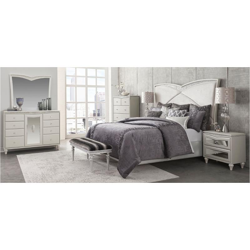 9019014 118 Aico Furniture Melrose Plaza Bedroom Bed