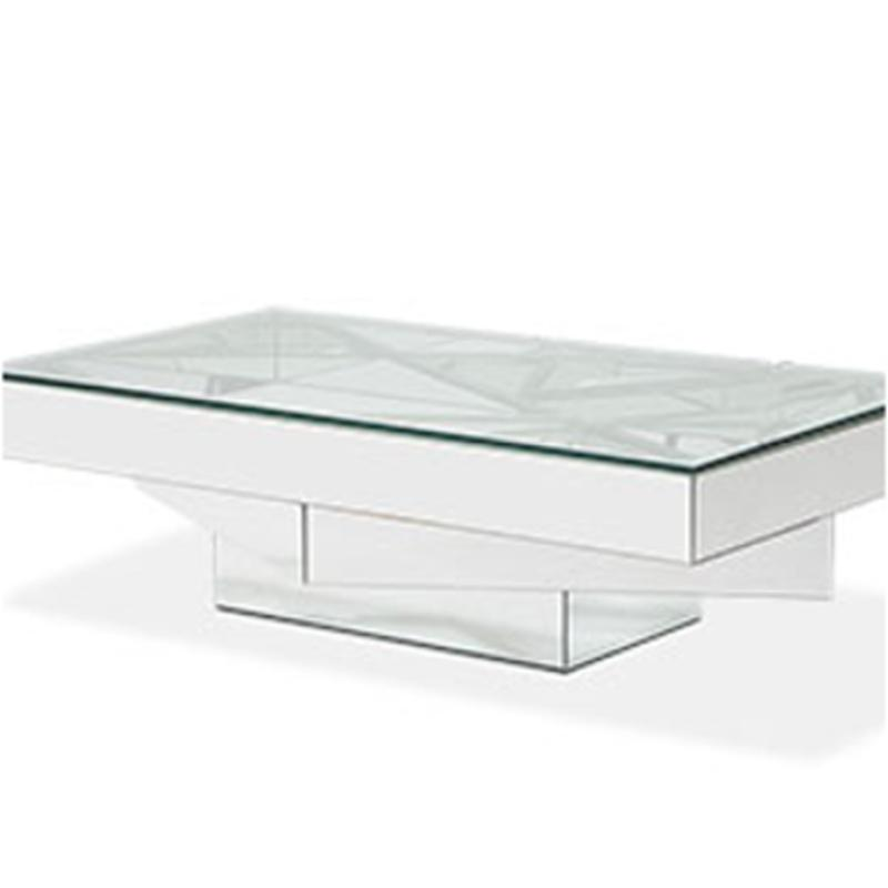 Fsmntrl1389 Aico Furniture Rect Cocktail Table W Glass Top