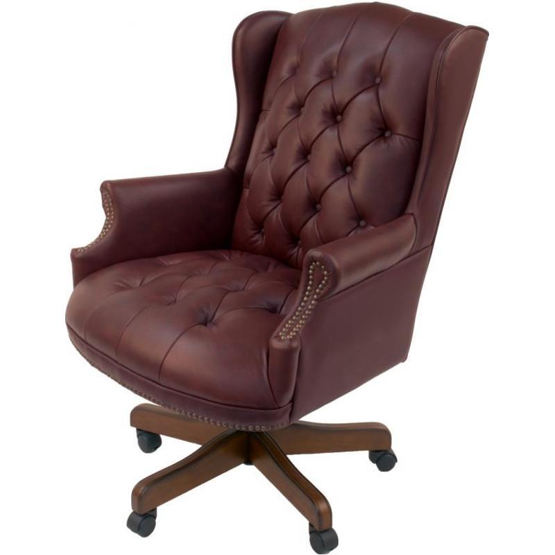 Peachy Oc175 Bu Parker House Furniture Office Chairs Leather Office Chair Burgundy Machost Co Dining Chair Design Ideas Machostcouk