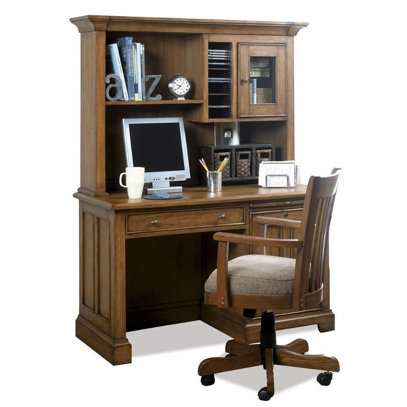 69252 Riverside Furniture Woodlands Oak 50 Inch Computer Desk