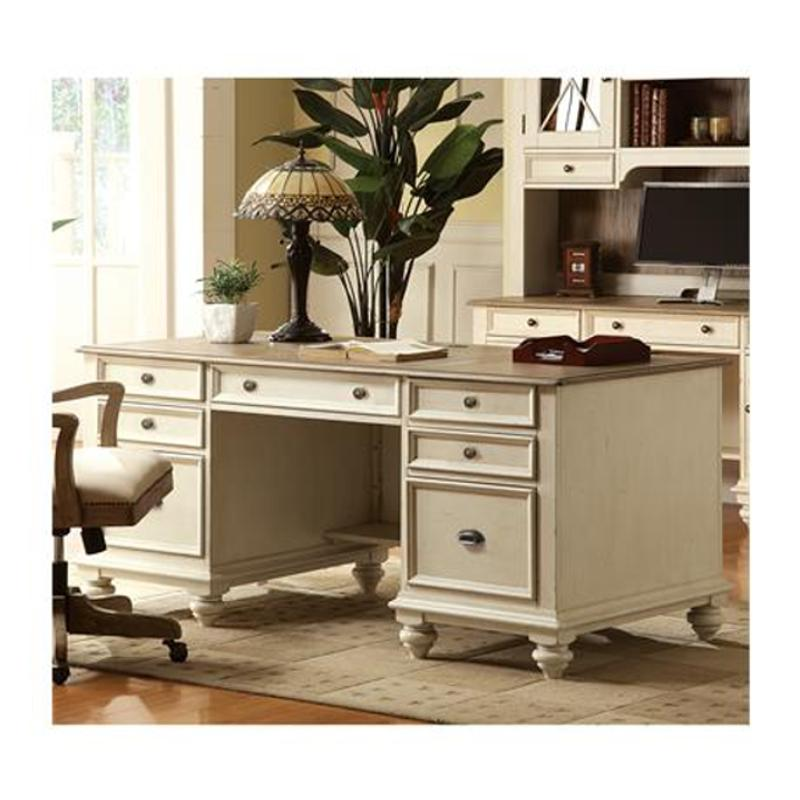 Excellent 32535 Riverside Furniture Coventry Two Tone Executive Desk Home Interior And Landscaping Palasignezvosmurscom
