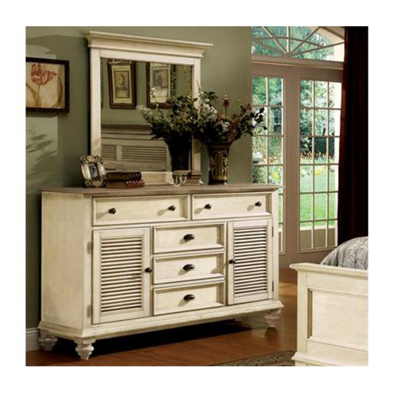 32560 riverside furniture coventry two tone shutter door dresser