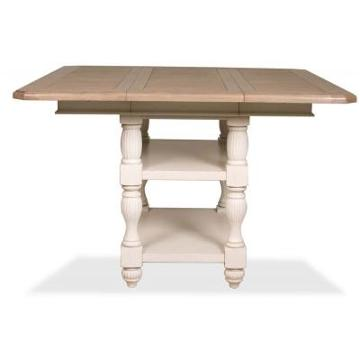 riverside furniture coventry two tone dining room counter height table