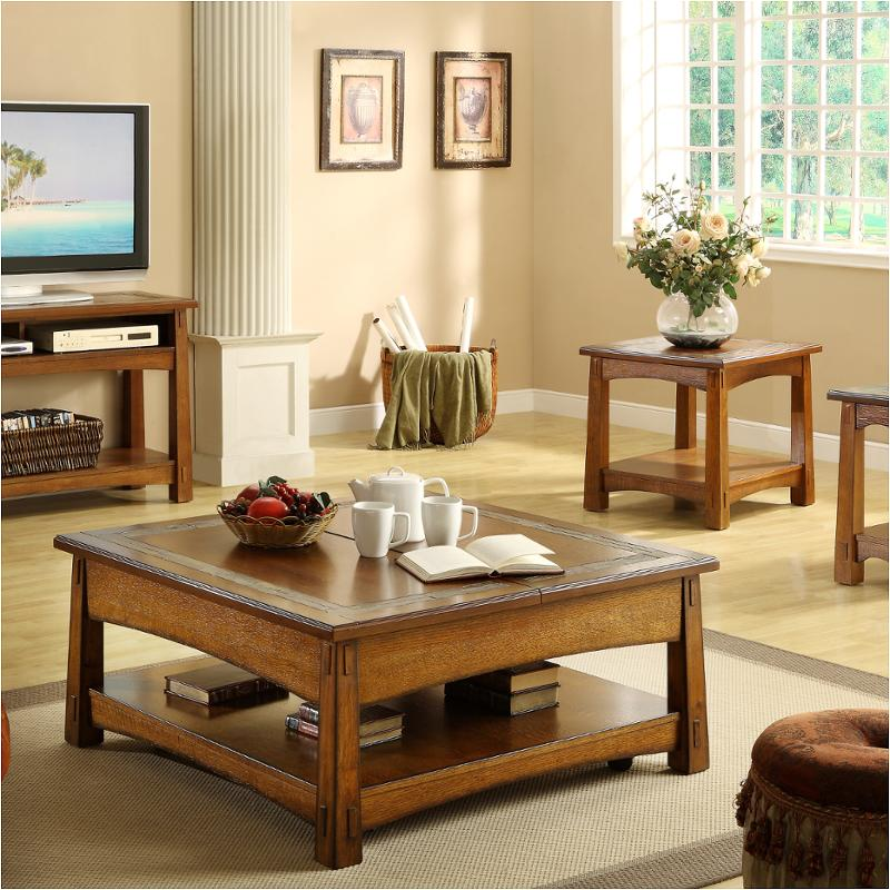 2901 Riverside Furniture Craftsman Home Square Lift Top Cocktail