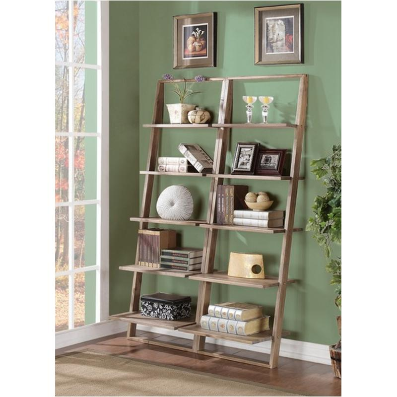 new concept 2c9d6 dafa3 27737 Riverside Furniture Lean Living - Driftwood Leaning Bookcase -  Driftwood