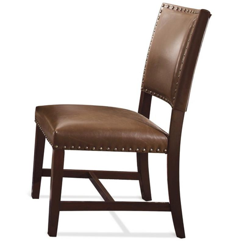 36665 Riverside Furniture Parsons Chair Bonded Leather 2in