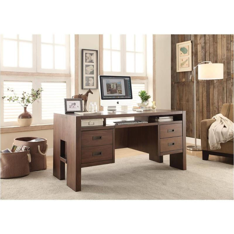 98830 riverside furniture terra vista home office writing desk. Black Bedroom Furniture Sets. Home Design Ideas