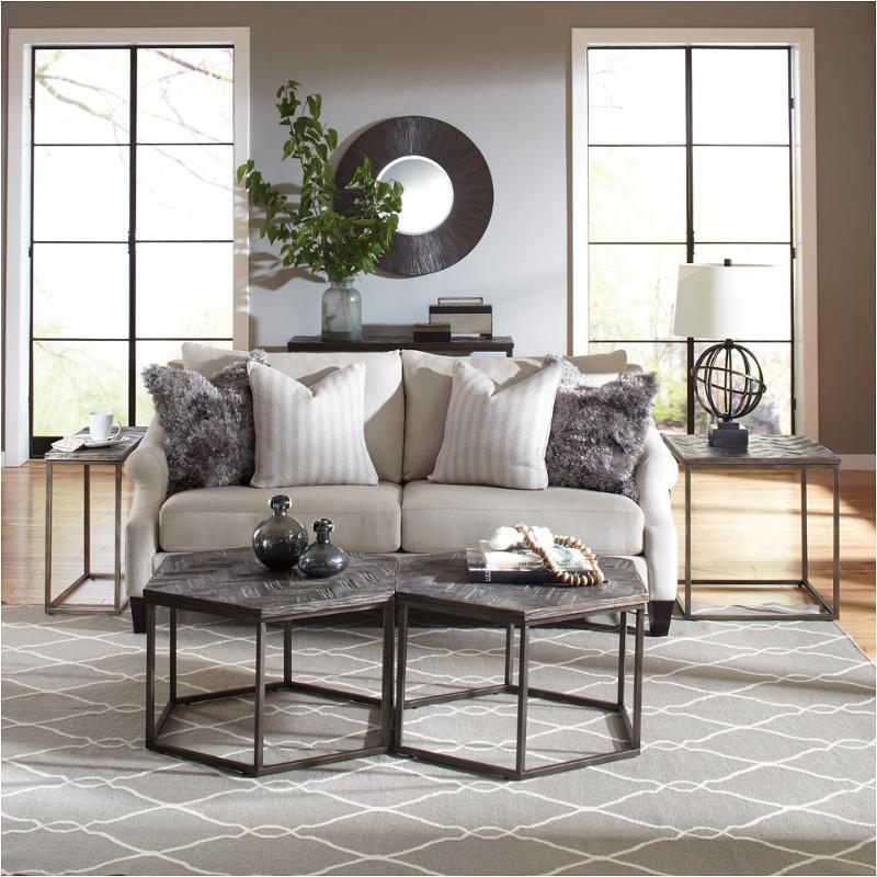 Riverside Furniture Chevron Hexagon Cocktail Table - Hexagon cocktail table