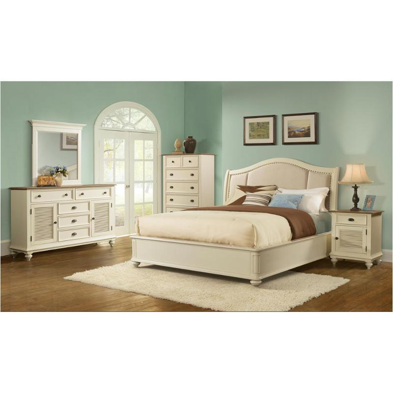 Bon 32588 Riverside Furniture Coventry Two Tone Bedroom Bed