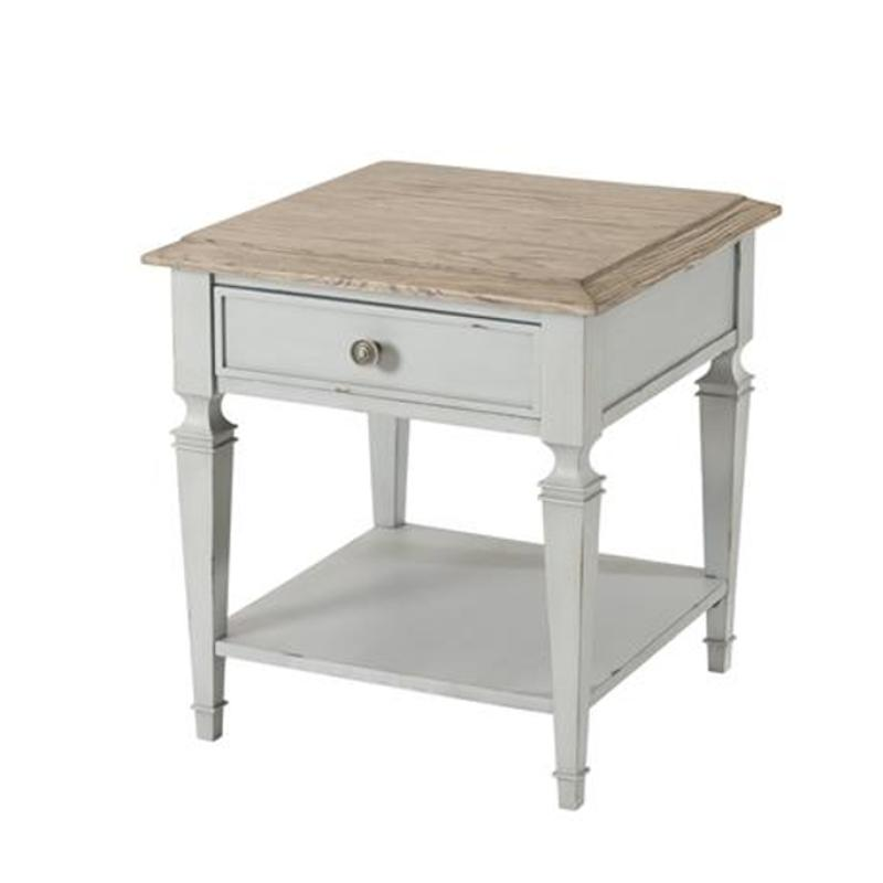 28309 Riverside Furniture Burke Living Room Square End Table