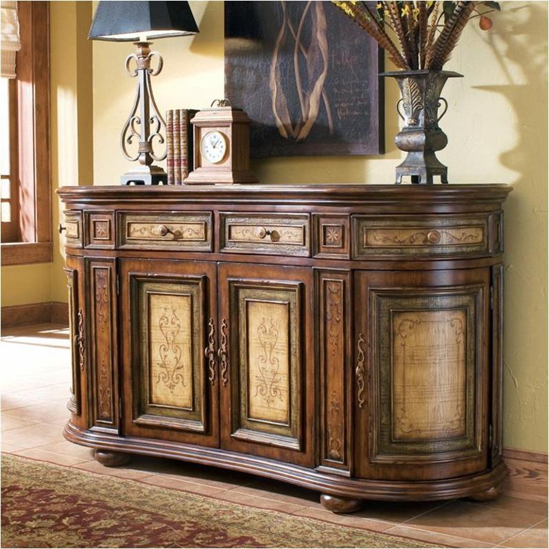 761 85 122 hooker furniture beladora two tone shaped credenza for Beladora bedroom set