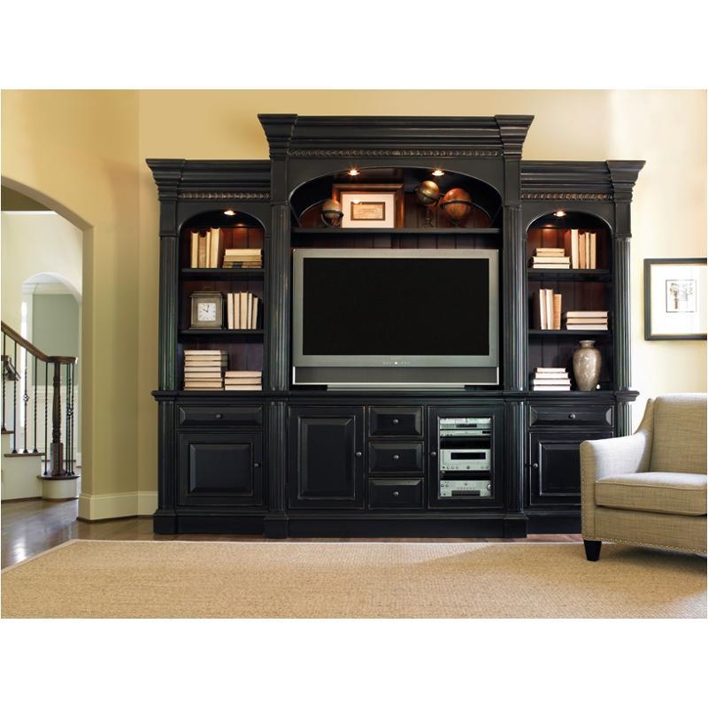 243 70 467 Hooker Furniture New Castle Ii   Black Home Entertainment  Entertainment Center