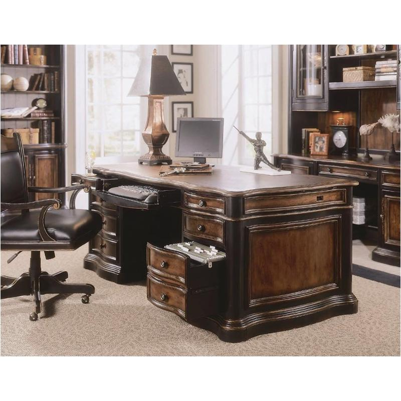 864 10 563 Hooker Furniture Executive Desk Leather Top