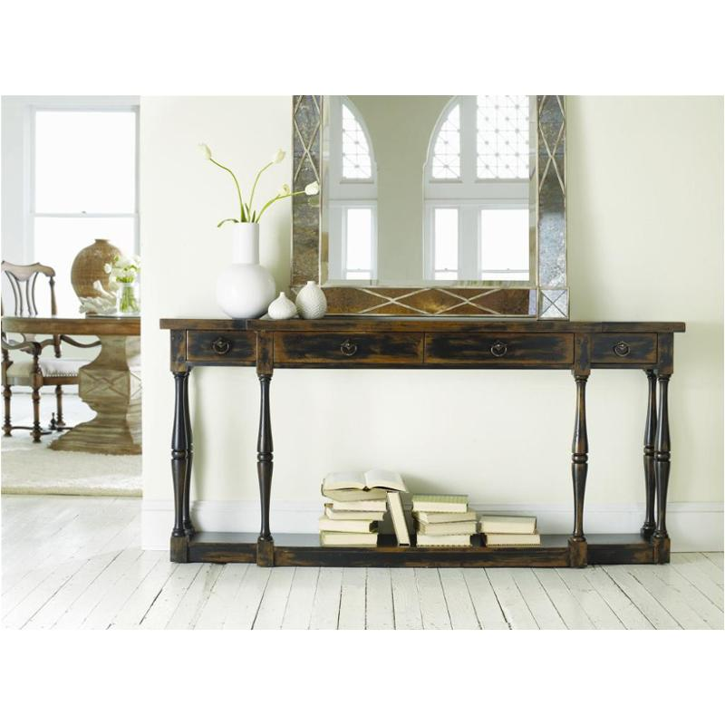 3005 85001 Furniture Sanctuary Four Drawer Thin Console Ebony