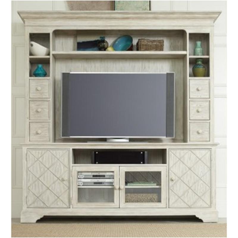 5325 55480 Hooker Furniture Sunset Point   Hatters White 2 Pc Entertainment  Group   Hatters White