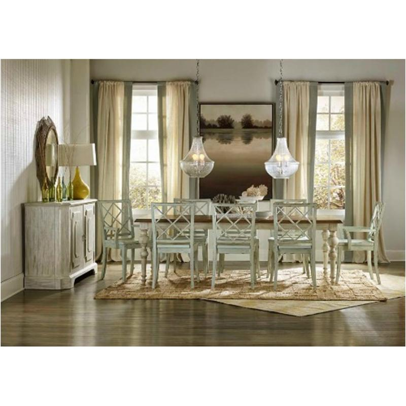 5325 75200 Hooker Furniture Sunset Point   Hatters White Dining Room Dining  Table