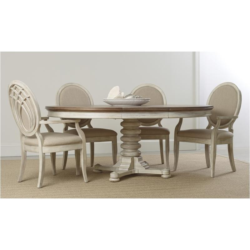 5325 75002 Hooker Furniture Sunset Point   Hatters White Dining Room Dining  Table