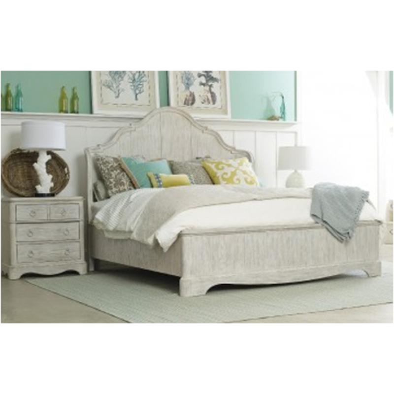 5325 90367 Hooker Furniture Sunset Point   Hatters White Bedroom Bed
