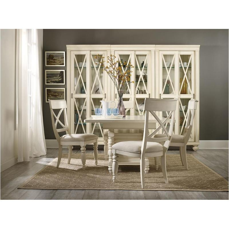 5304 75006 Hooker Furniture Beaufort House   White Adjustable Height Dining  Table With 1 20in Leaf   White