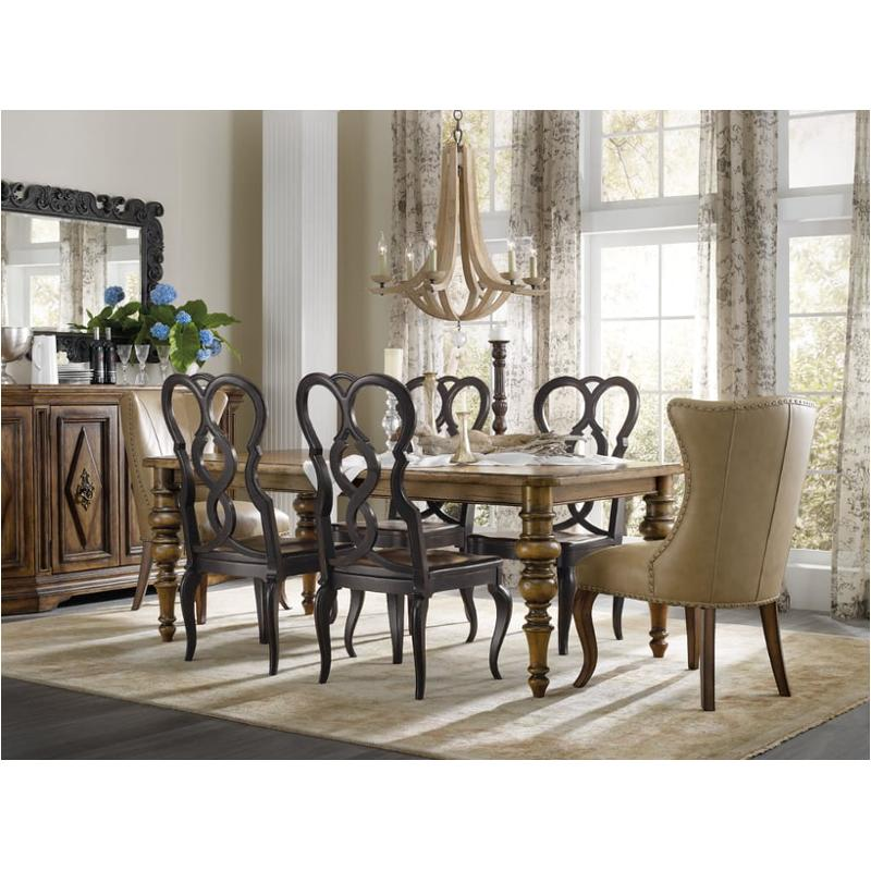1595 75200a Brn Hooker Furniture Auberose Dining Room Dining Table