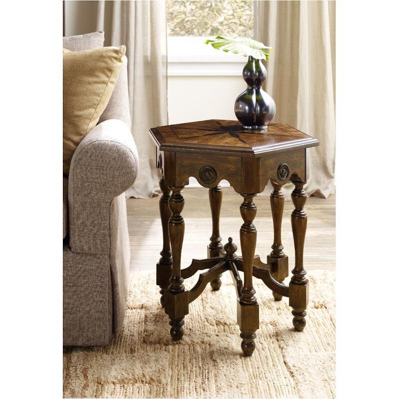 5447-50002 Hooker Furniture Archivist Hexagonal Accent Table