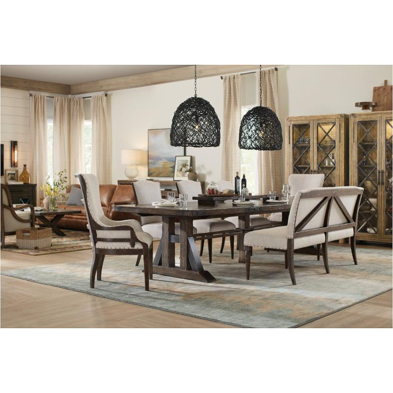1618-75008-dkw Hooker Furniture American Life - Roslyn County Trestle  Dining Table