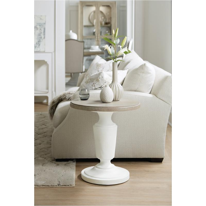 1652-80116-wh1 Hooker Furniture Modern Romance Round End Table