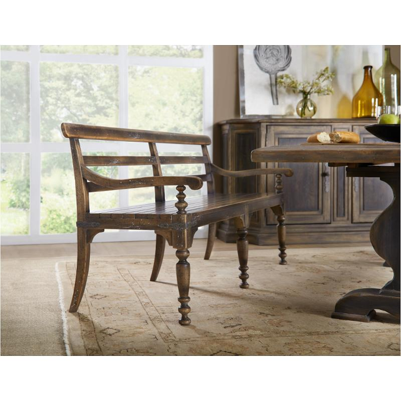 Marvelous 5960 75315 Brn Hooker Furniture Hill Country Helotes Dining Bench Gamerscity Chair Design For Home Gamerscityorg