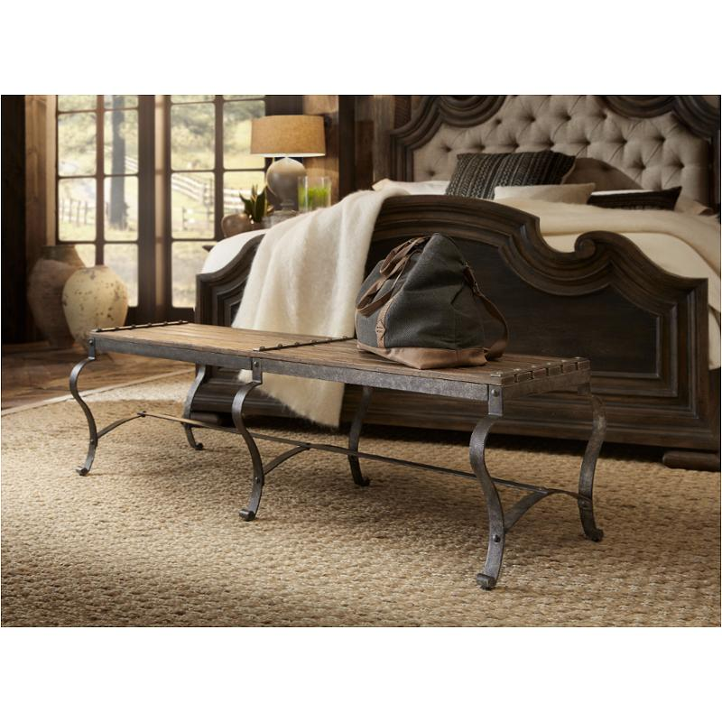 5960-90019-mtl Hooker Furniture Hill Country Ozark Bed Bench