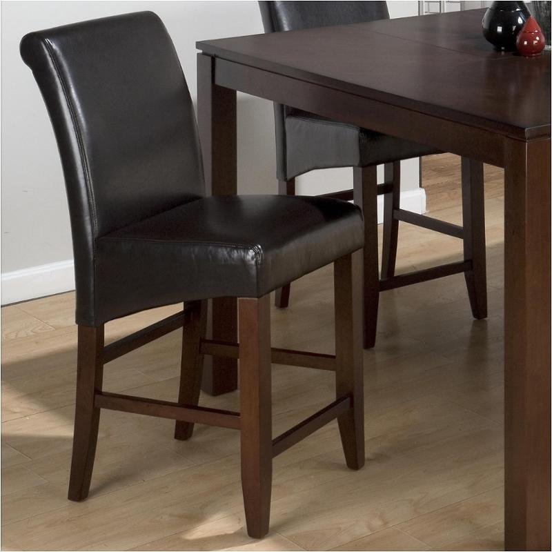 888 bs485 jofran furniture chestnut bonded leather stool