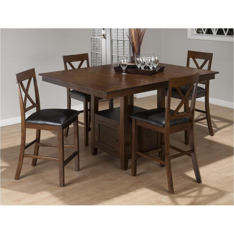 439 60t Jofran Furniture Counter Height Table With Storage Base
