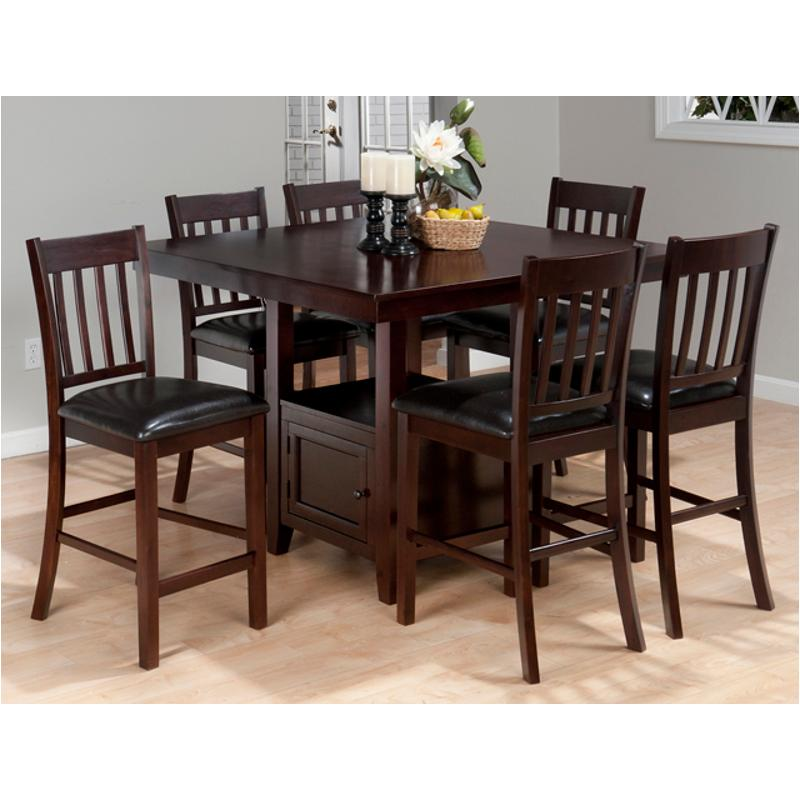 933 48t Jofran Furniture Counter Height Square Table With Storage