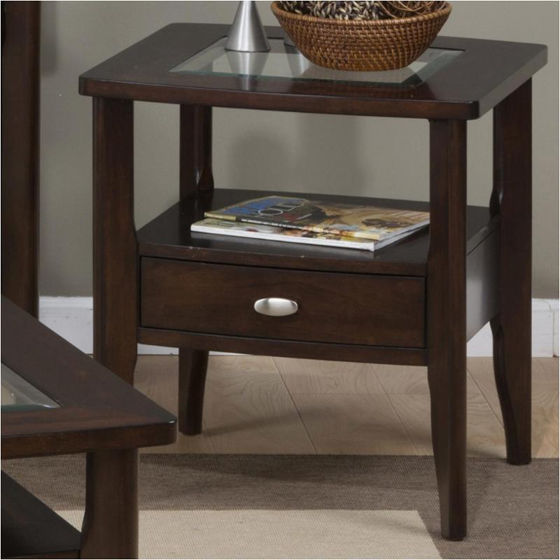 f17dc2d627ba 827-3 Jofran Furniture 827 Series Living Room Square End Table