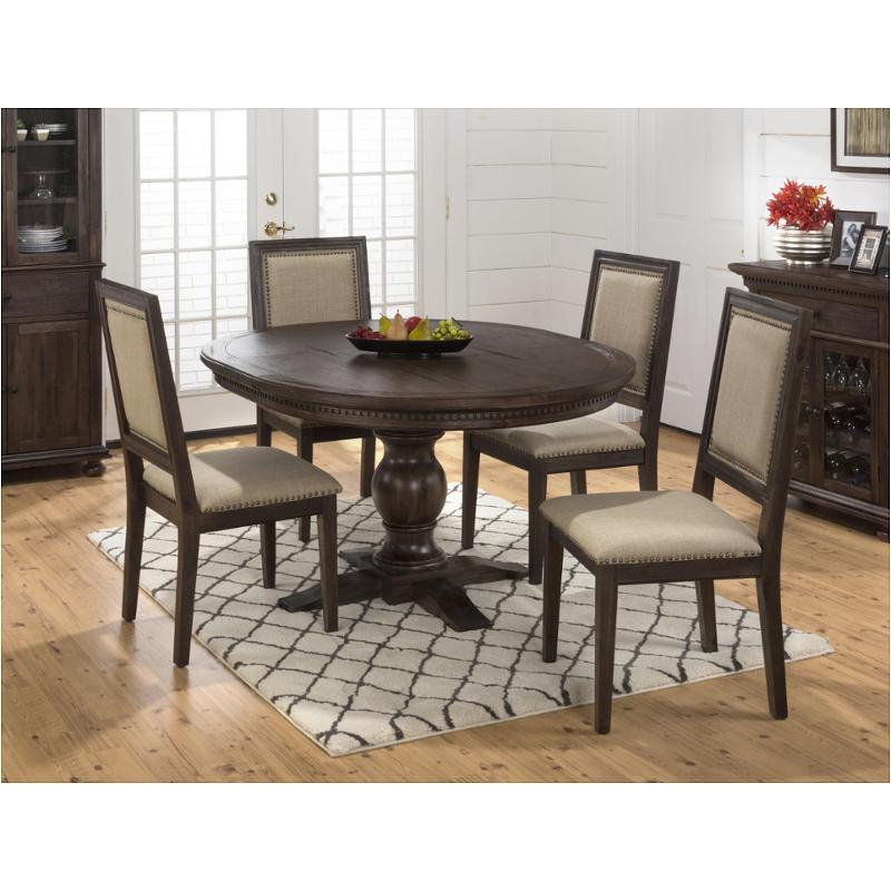 678-60t Jofran Furniture Geneva Hills Wire Brushed Round To Oval Dining  Table